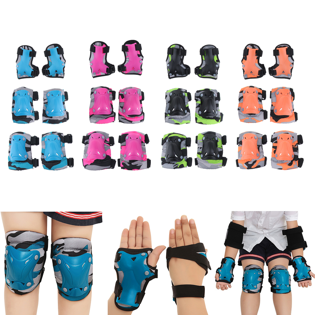 Boys Girls Kids Safety Knee Elbow Pad Set Wrist For Cycling Skate Bike Skateboarding 5-15 Years