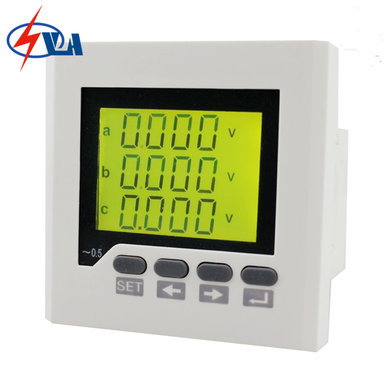3D7Y frame size 80*80 three phase ac lcd digital multifunction meter for distribution box AC220V d2y panel size 120 120 low price and high quality lcd single phase digital multifunction meter for distribution box