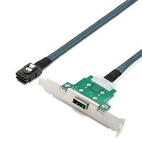 Cabledeconn Server Transmission Cable SFF 8088 Female to SFF 8087 Computer Hard Disk Data Cable 1m