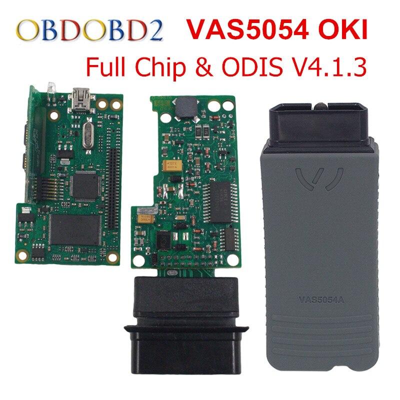 Newest VAS 5054A With OKI Chip VAS5054A Bluetooth ODIS 4.1.3 For VW/AUDI/SKODA/SEAT VAS 5054 Full Chip Support UDS Protocols best quality vas 5054a full chip odis v2 2 4 with oki uds vas5054a vas5054 bluetooth diagnostic tool for vw audi seat skoda
