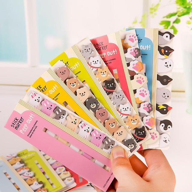 Kawaii Memo Pad Bookmarks Creative Cute Animal Sticky Notes Index Posted It Planner Stationery School Supplies Paper Stickers 4