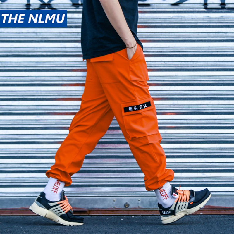 Harajuku Joggers Sweatpants Men Hip Hop Multi Pockets Cargo Pants Elastic Waist Harem Trousers Streetwear Mens 2018 Pant WJ045