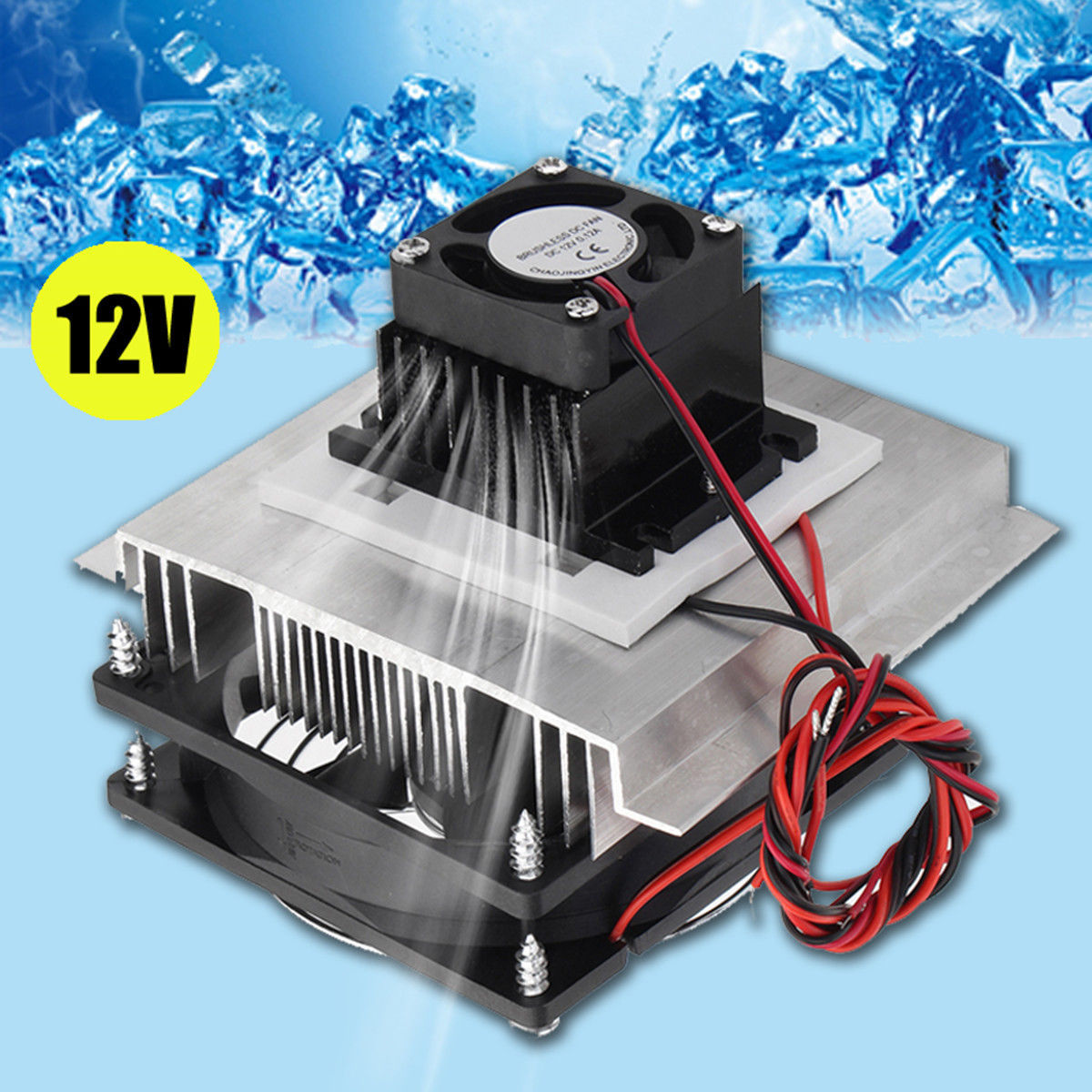 12v 6a Thermoelectric Peltier Refrigeration Cooling System Kit Cooler Fan Diy12v 6a Thermoelectric Peltier Refrigeration Cooling System Kit Cooler Fan Diy