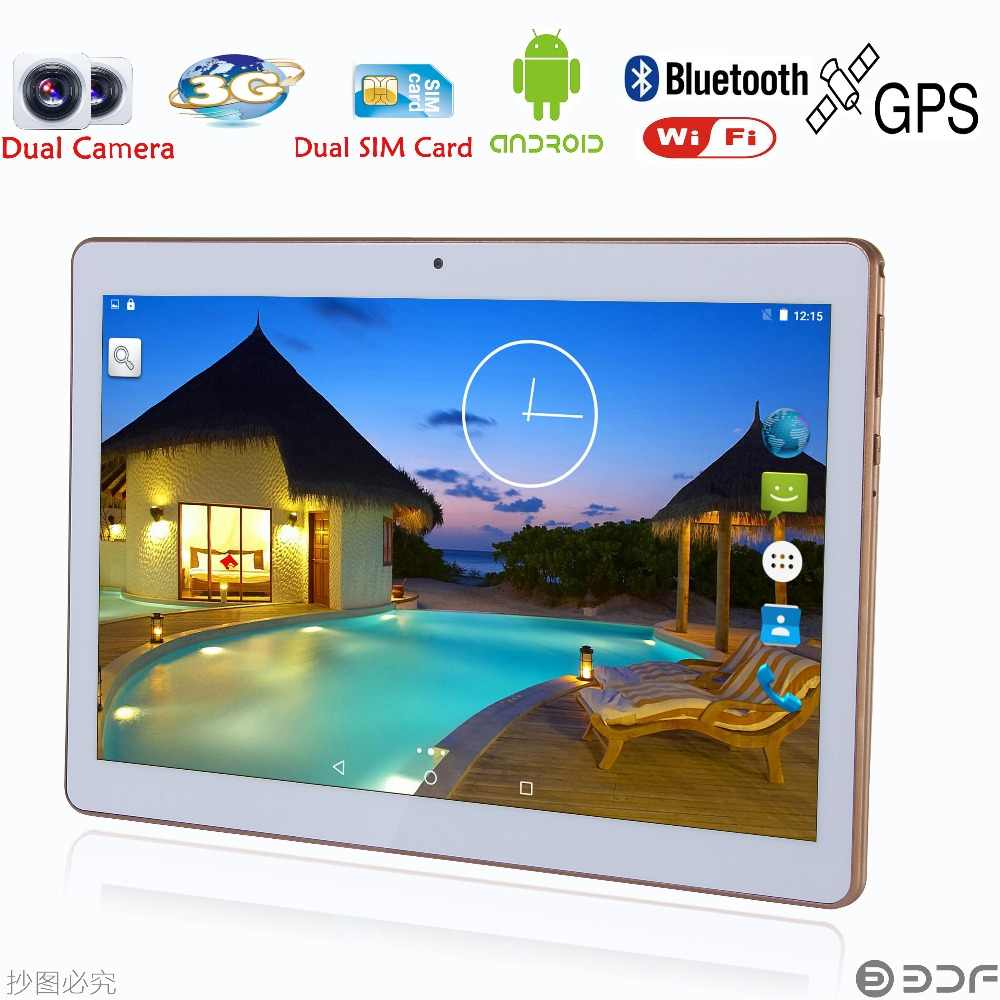 BDF 10 Inch Originele Android 7.0 Tablet PC Quad Core 32GB ROM Dual Sim-kaart 5.0MP Tabletten 3G telefoontje Mobiele laptop 7 10.1
