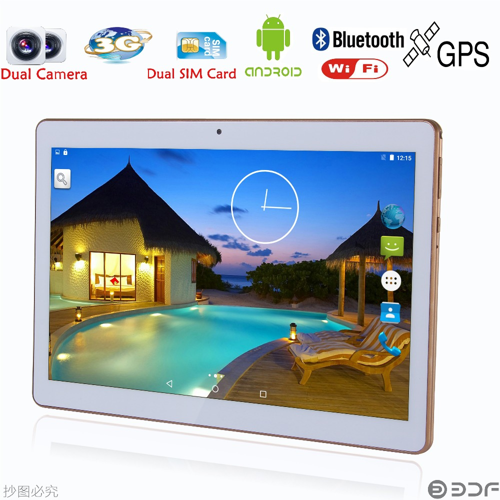 BDF 10 Inch Original Android 7.0 Tablet PC Quad Core 32GB ROM Dual SIM Card 5.0MP Tablets 3G Phone Call Mobile Laptop 7 10.1