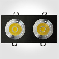 Hot Sale 20W Dimmable 110V 220V Double LED Recessed Ceiling Down Light Driver Warm Cool