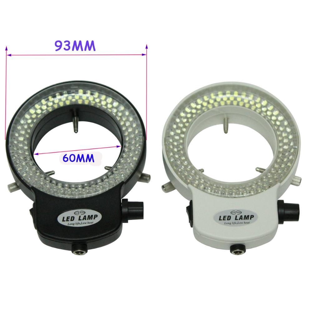 Industrielle Microscope électronique Numérique Camera Lens LED Source de Lumière 144 Perles de Lumière Réglable Luminosité Anneau Lumière Illuminateur