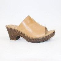 Factory outlet wysokiej jakości pierwsza warstwa skórzane Klasyczne kobiece sandały na wysokim obcasie sandały