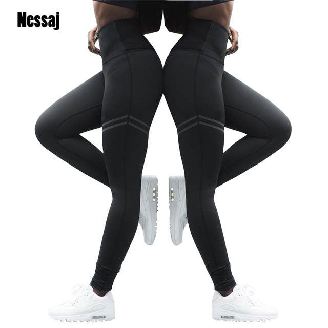 f404b94aa8 Nessaj Women Pants Fashion Patchwork Workout Legging Stretch Slim  Sportswear Jeggings Activewear High Waist Fitness Leggings