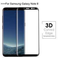 For Samsung Galaxy Note 8 Tempered Glass 9H Electroplated 3D Front Full Film Case For Samsung