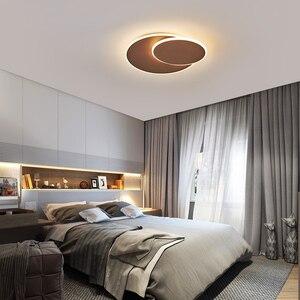 Image 4 - Girevole Ultra sottile Moderno Soffitto A LED Luci Per corridoio Camera Da Letto corridoio Marrone/Bianco lampade A Soffitto Lampada lamparas de techo