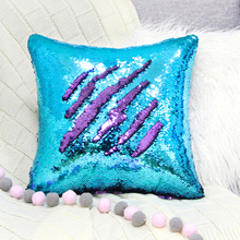 Icosy Home DIY Shining Mermaid PillowCase With Magical Color Changing Reversible Pillow Case Cushion Cover Ship From USA