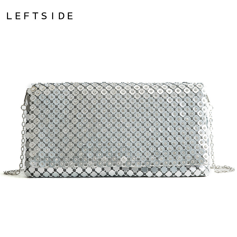 LEFTSIDE Luxury Handbags Women Bags Designer 2018 Small Crossbody Bag Brand Sequin Handbag Glitter Bling Sequins Party Clutch