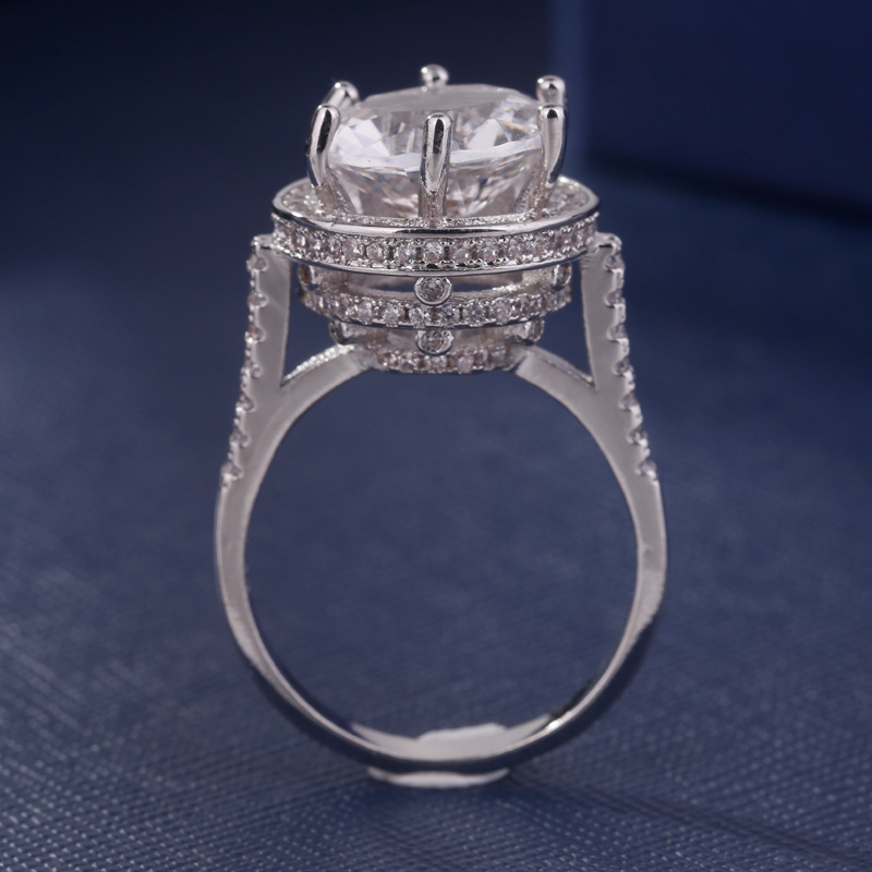 Hot Diamond Ring couple set diamond ring for woman jewelry Zircon ring female personality diamond ring