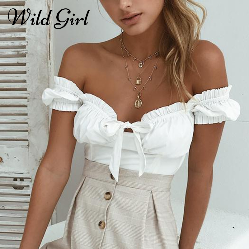 Ruffle bow off shoulder tops&tees Sexy slim summer fashion red camisole tank top Female streetwear casual shirt women cami 2018