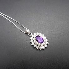 LANZYO 925 sterling silver Amethyst Pendants fashion gift for women jewelry trendy plant  wholesale fine z050701agz