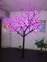 Бесплатная доставка 6.5ft 2 м высота LED Рождество света Открытый Сад Дисплей Праздник лампы 1152 шт. светодиодов Розовый