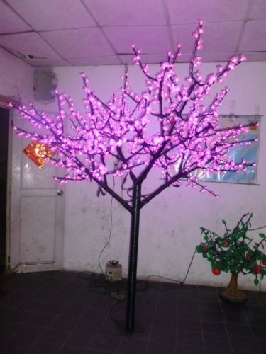 Free ship 6.5ft 2m Height LED Christmas Light Outdoor Garden Display Holiday Lamp 1152pcs LEDs Pink