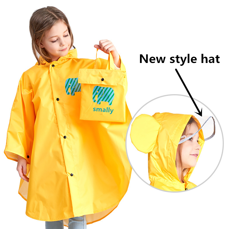 Kids Poncho Cute Capa De Chuva Infantil Waterproof Japan Children Rain coat  Cover Poncho Rainwear Hooded jaqueta Impermeable