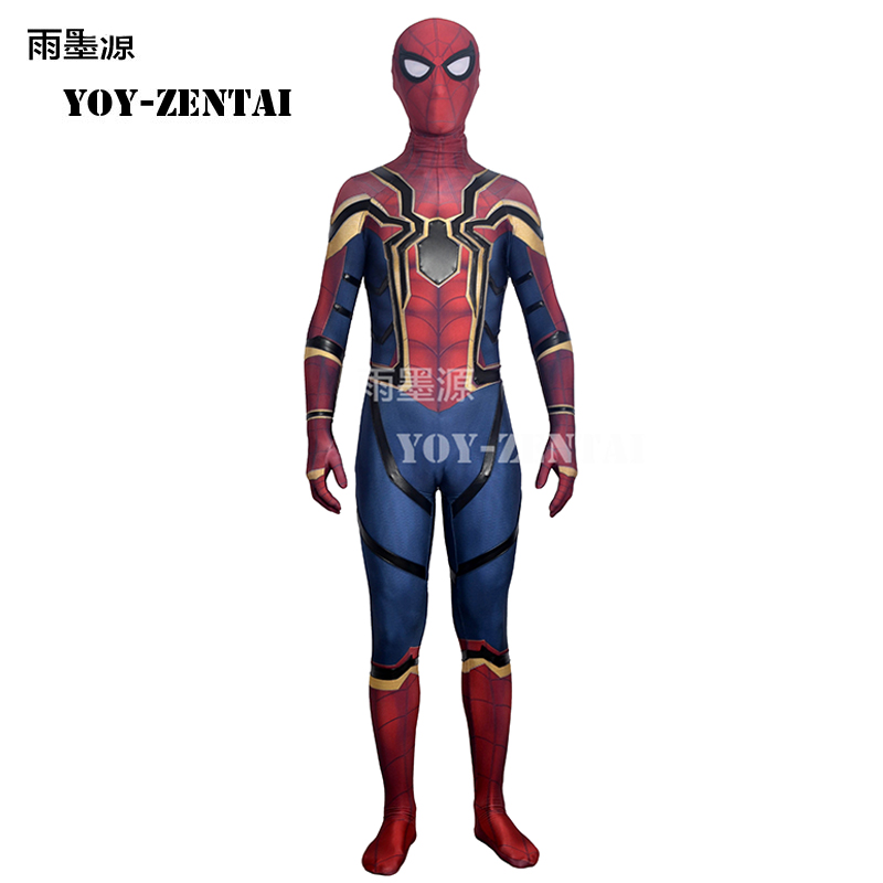 Movie Coser High Quaity Homecoming Spiderman Cosplay Costume For Halloween Party Avengers Spiderman Costume For Man