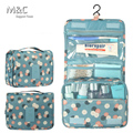 Summer Style Travel Set Waterproof Portable Cosmetic Bags Large Capacity Toiletry Hanging Wash Bags Women Cosmetic Bag HZB-008