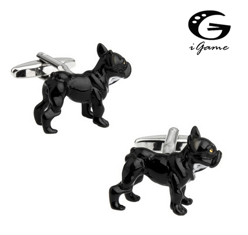 iGame Mens Fashion Cuff Links Dog Design Quality Brass Material Factory Price Retail Free Shipping