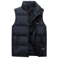 Men Winter Waistcoat Fashion Plus Size Masculine Photographer Vest Thick Duck Down Warm Sleeveless Male Jacket