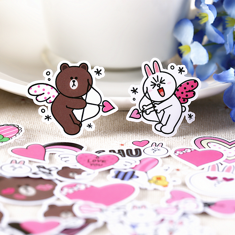 32pcs Creative Cute Self-made Line Star Bear Scrapbooking Stickers /decorative Sticker /DIY Craft Photo Albums