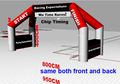 4 Legs Free Standing Advertising Inflatable Start & Finish Line With Banner