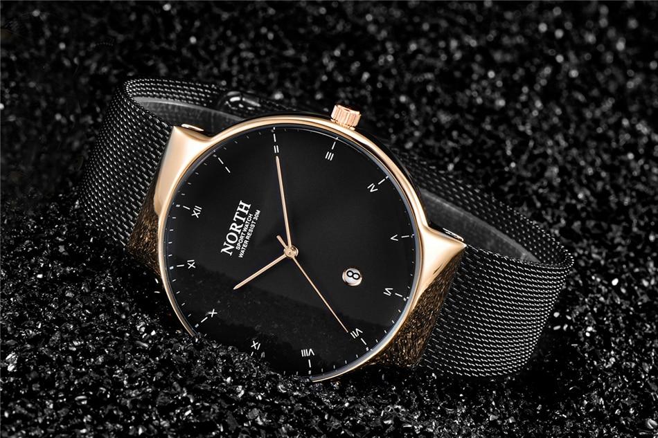marca superior negócio quartzo relógio masculino moda