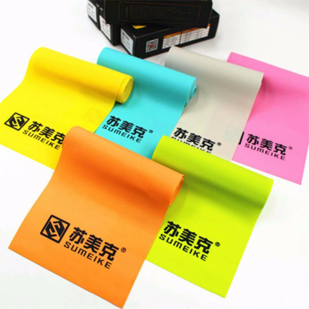 0.45-0.65mm Thickness Slingshot Rubber Band Tube Yellow Natural Latex Flat Rubber Band Slingshot Catapult