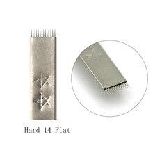 Laminas Tebori Microblading Sobrancelhas Flat Shading Fog Eyebrow Tattoo Hard 14 Pins Needles For Tobori Pen