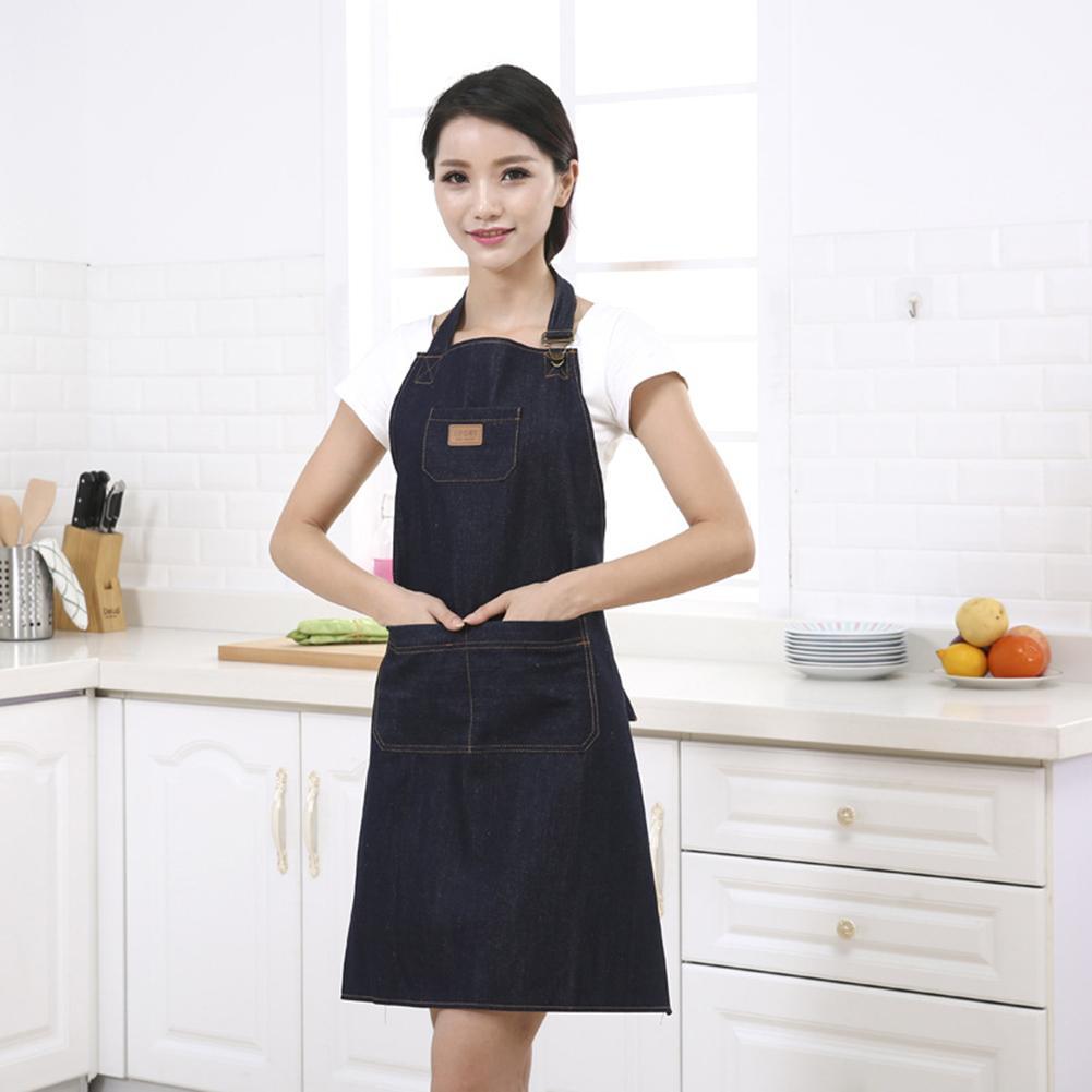 Домашняя кухня джинсовый Рабочий Фартук для готовки шеф повара художника