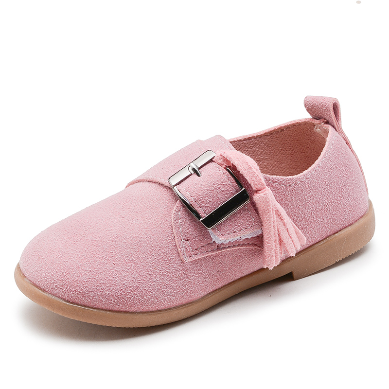 2018 Hot Boys Girls Shoes New Kids Flat Loafers Soft Children Casual Sneakers Buckle With Tassel Fashion Shoes For Girls Tassels
