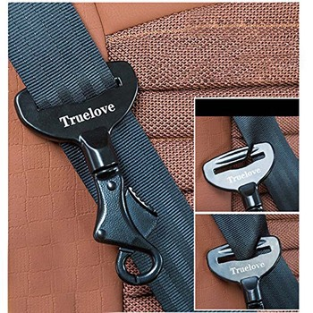 Truelove Vehicle Car Pet Dog Seat Belt Lock Harness Collar Clip Safety Lighweight Durable Aluminimum Alloy Dog Supplies Dropship 1
