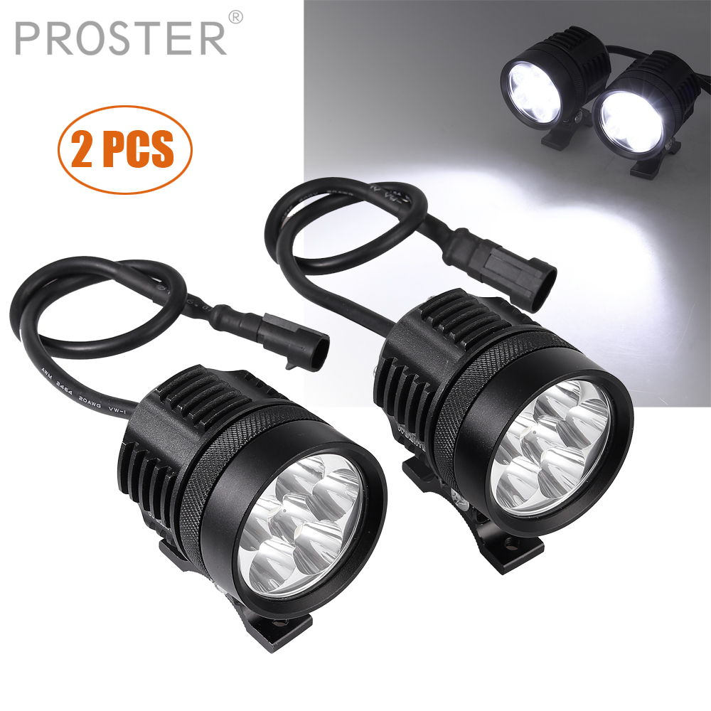 Proster 2pcs 36W Motorcycle Motorbike Headlight <font><b>LED</b></font> for Fog Spot Lights Bulb Switch for <font><b>12</b></font>-<font><b>80V</b></font> Vehicles Motorcycles, image