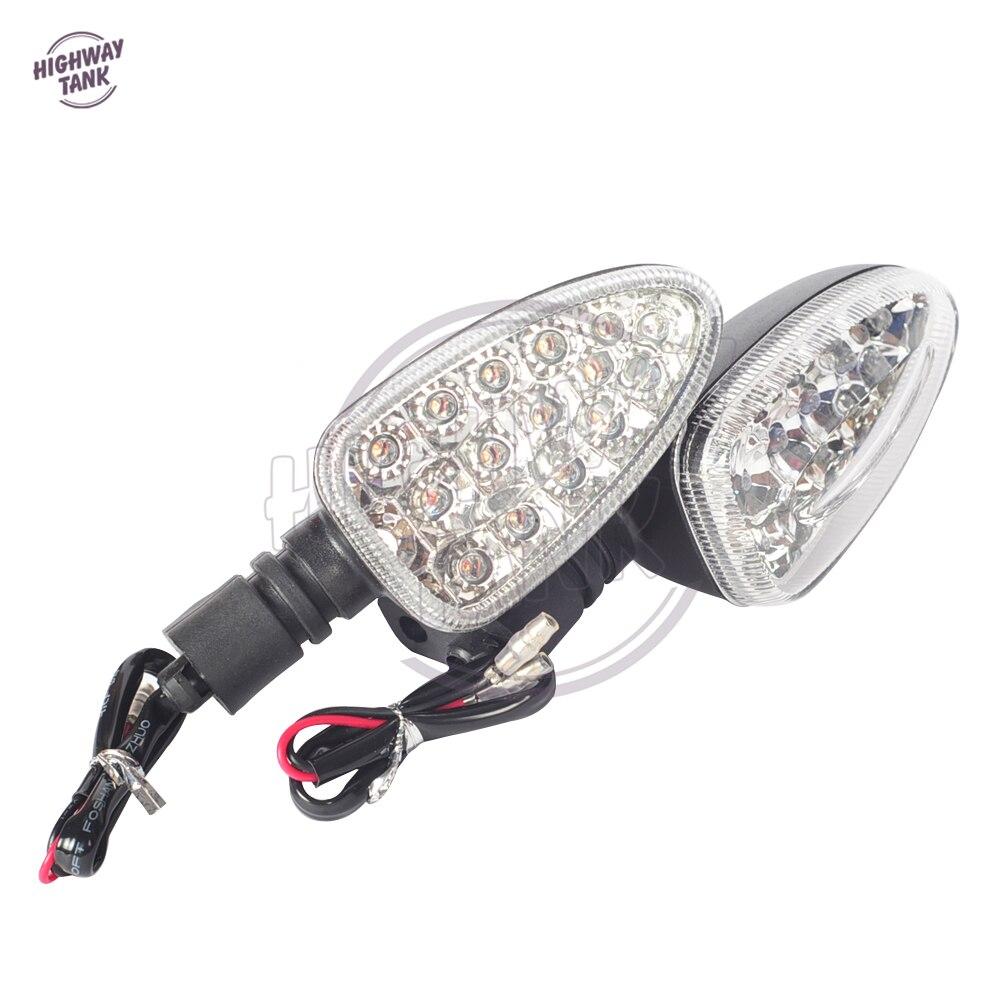White LED Motorcycle Turn Signal Light Blinker Indicators case for BMW R1200GS 2004 2005 2006 2007