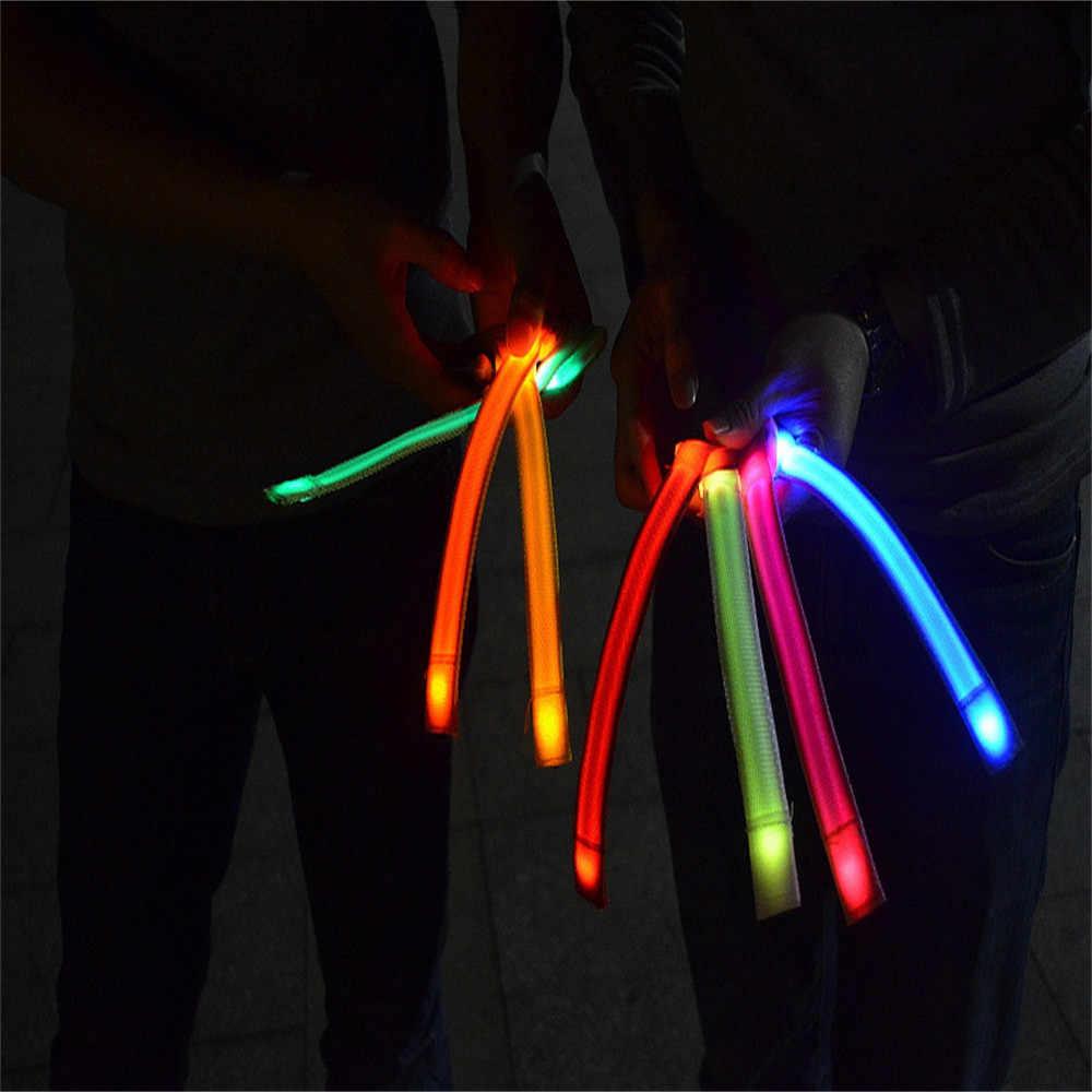 New cool bright Reflecterende LED Light Arm Armband Strap Veiligheid Riem Voor Night Running Fietsen 3 Knipperende Modus kleurrijke jonge 24cm