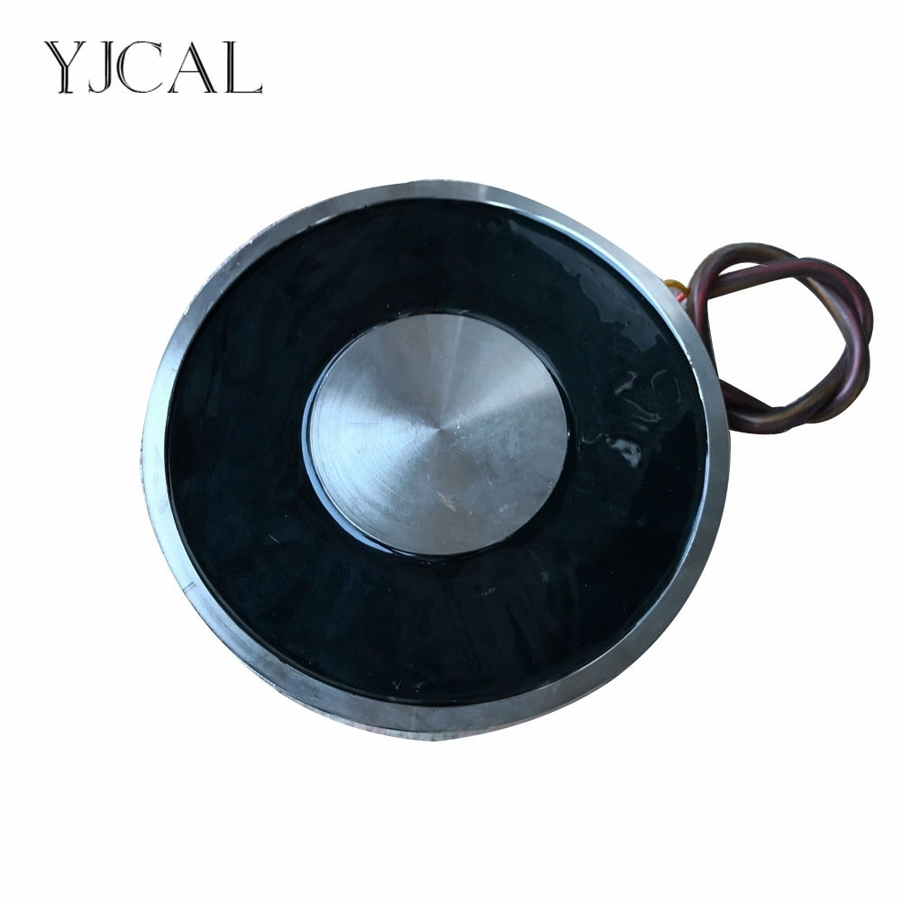 YJ-200/40 Holding Electric Sucker Electromagnet Magnet Dc 12V 24V Suction-cup Cylindrical Lifting 1000KG Suction Plate China