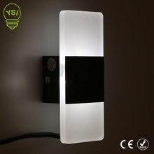 Современный Крытый акриловый настенный светильник 85-265 в светодиодный настенный бра светильник 3 Вт/6 Вт теплый белый холодный белый для спальни коридора лестницы