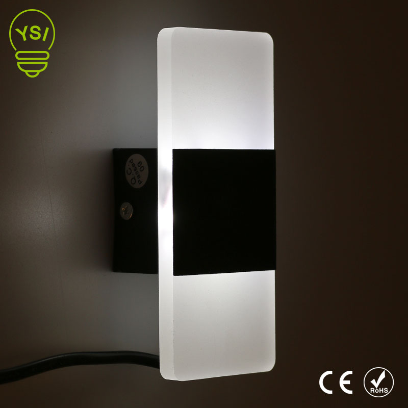 Modern Indoor Acrylic Wall Lamp 85-265V LED Wall Mounted Sconce Light 3W/6W Warm White Cold White For Bedroom Corridor Stairs