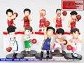 10 шт./лот 8 см пвх броскам сверху shohoku фигурку японского аниме цифры указан баскетбольная команда Hanamichi Sakuragi в версии