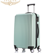 2016 New Pressure resistant ABS PC Travel Cabin Case 20 24 Inches Hard Shell Trolley Rolling