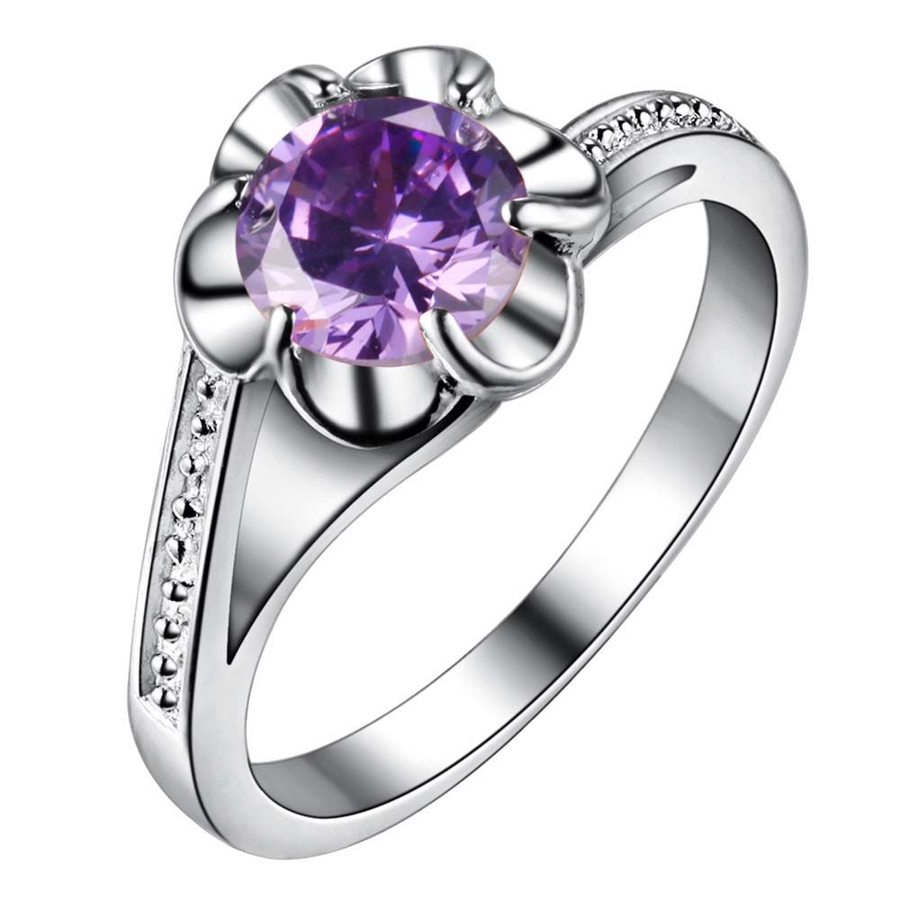 purple zircon bling Silver plated Ring Fashion Jewerly Ring Women&Men , /QZFOXXHH YHAXFHFJ