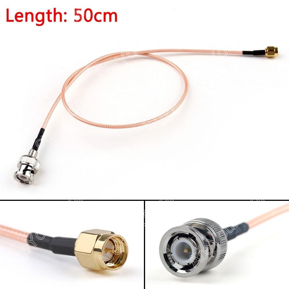 ᗚVenta 50 cm Cable BNC Macho A Sma Macho Recto de Crimpar Puente ...