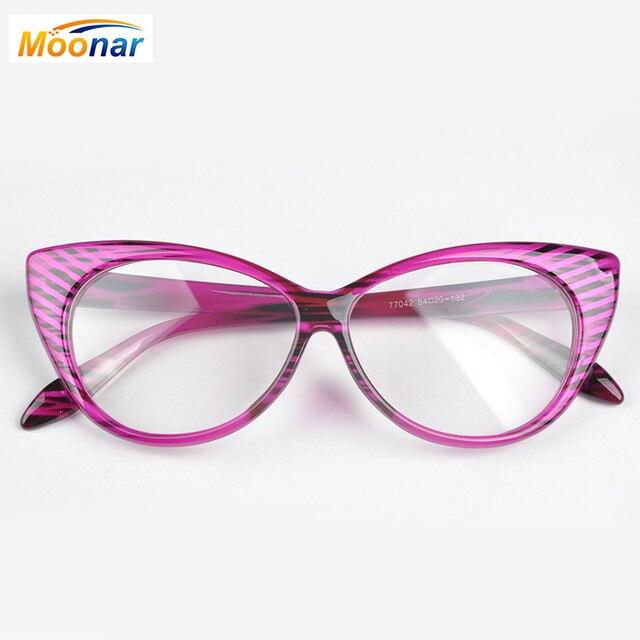 64295251f2836 Leopard reading eyeglasses frame women brand plain eye glasses Spectacle  cat eye glasses Girls birthday gift