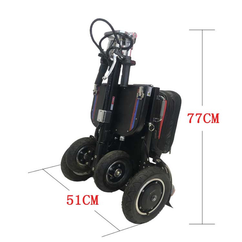 New smart foldable electric tricycle mobility scooter with electric scooter motor