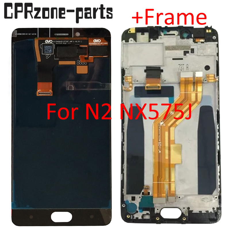 5.5 100% tested For ZTE Nubia N2 NX575J LCD display assembly with touch screen digitizer+Frame 720 x 1280 pixels free shipping5.5 100% tested For ZTE Nubia N2 NX575J LCD display assembly with touch screen digitizer+Frame 720 x 1280 pixels free shipping