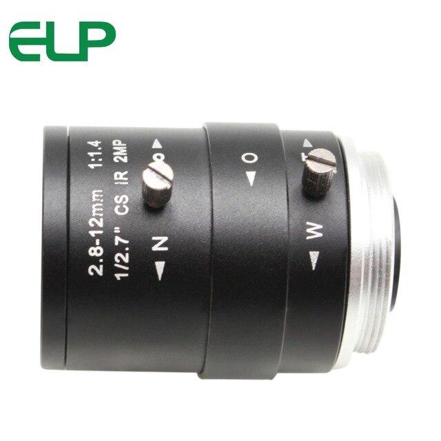 ميجابيكسل 2.8 12 مللي متر فاريفوكال عدسة كاميرا مراقبة عالية الوضوح دليل التكبير والتركيز CS Mount