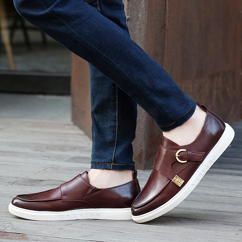 KUYUPP Size 39-43 Top Pu Leather Men Flats Moccasins Slip On Casual Men\'s Loafers Spring Fashion Shoes High Quality S264 (23)